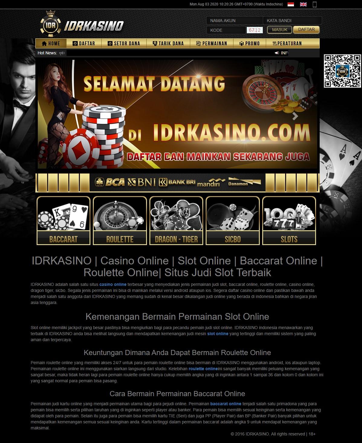Idrkasino Situs Judi Slot Online Terpercaya Di Indonesia